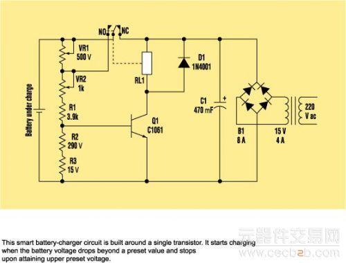 自动电池充电器电路设计
