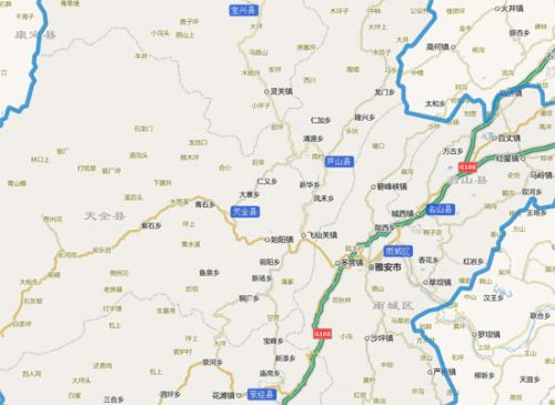 四川天全卫星地图