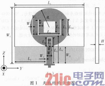 一种具有三陷波特性的超宽带印刷天线设计图片