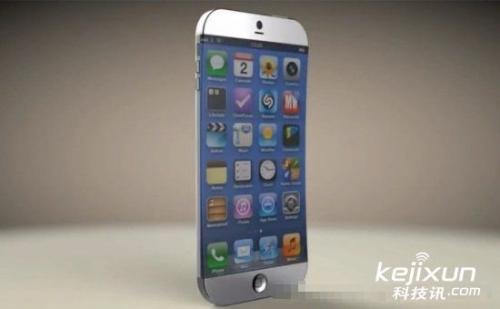 苹果iphone 6概念手机:弯曲无边框屏幕设计