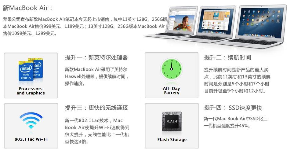 新MacBook Air:处理器升级续航变长