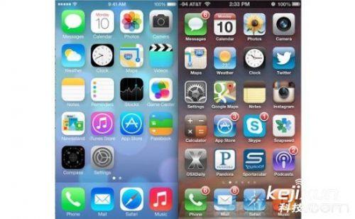 iOS7和iOS6对比图 究竟iOS7设计哪里不好