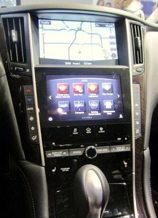 infiniti汽车中控台上方的导航用显示器也支援adas