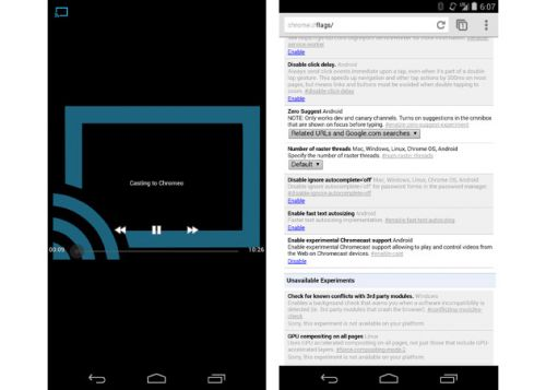 Chrome Beta 可以更易将网页影片发送到Chromecast0
