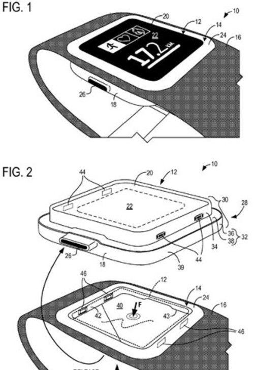 微软欲发智能手表 新专利似有画蛇添足高清图片