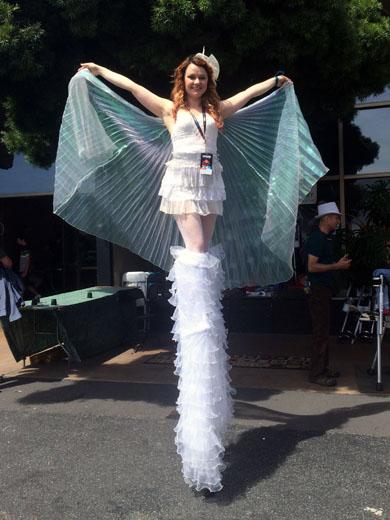 硅谷MakerFaire第一天:科技展与游园拍美女夏日臀街图片