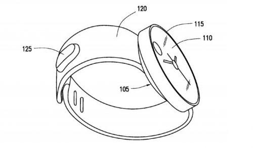 三星穿戴式设备专利曝光:圆形非gear系列智能手表图片