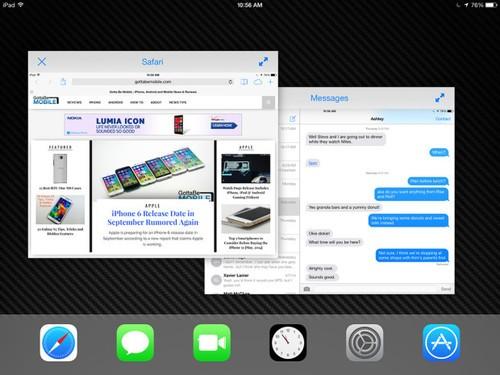 刺 iPad 无法同屏运行两个应用. iPad Air,小屏幕设备 Retina iPad