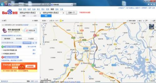 百度地图首发黄鄂,东常两条高速公路数据