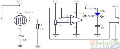信号调理放大电路,滤波电路和单片机内置10