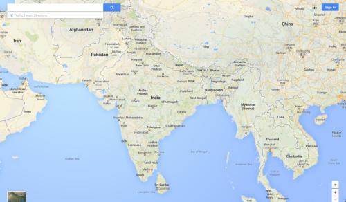 地图完善印度境内地理位置信息