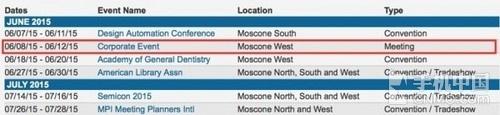 Moscone文件:WWDC 2015将于6月8日举0