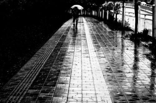 下雨人打伞背影图片 情侣背影下雨图片 下雨打伞的男背影人物