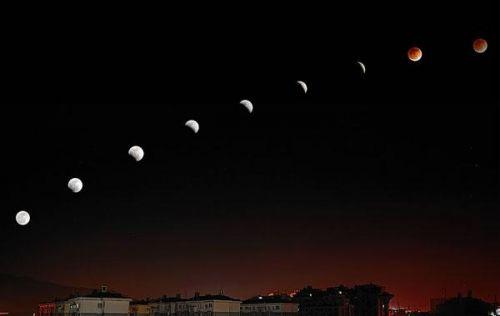 """今晚月全食将现""""红月亮"""""""
