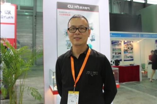 第84届上海电子展 专访浙江欣大电气杜勇杰0