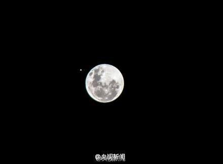 """天空将上演""""木星合月"""""""