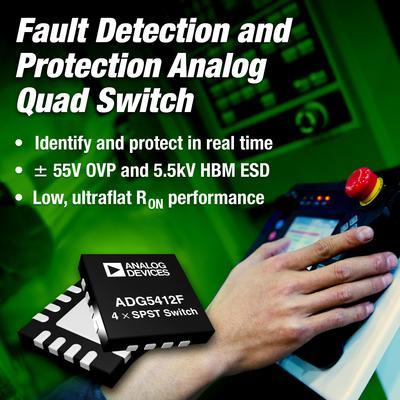 ADI推出故障检测和保护、低/超平电阻开关系列产品0