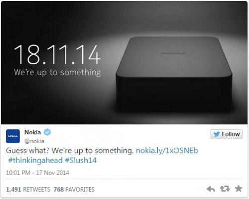 诺基亚11月18日发布新硬件产品0