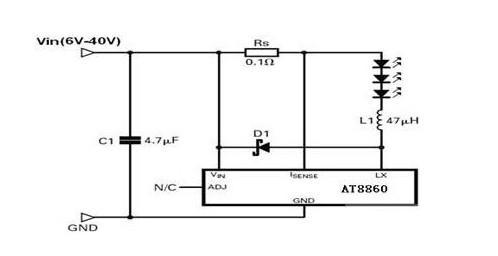 1a降压恒流led驱动芯片at8860特点