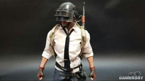 玩家自制《绝地求生》角色模型 三级头平底锅超还原1