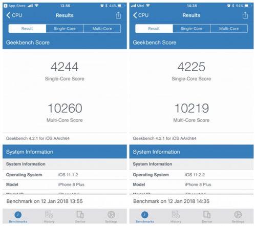 坑!iPhone 6/6S升iOS 11.2.2后性能大幅缩水:新机没事1