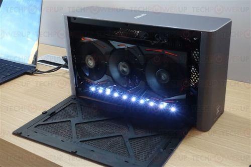 兼容PC和Mac!华硕新款外置显卡盒:双120毫米风扇1