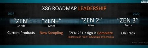 AMD:今年将交付7nm Zen 2处理器、底层免疫漏洞1