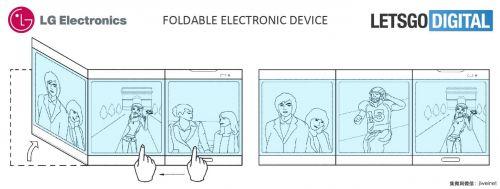 分屏交互 LG折叠智能手机专利被曝光3