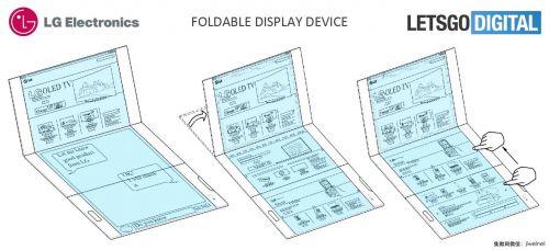 分屏交互 LG折叠智能手机专利被曝光2
