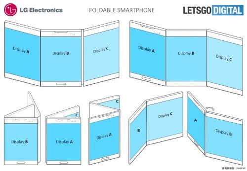 分屏交互 LG折叠智能手机专利被曝光1