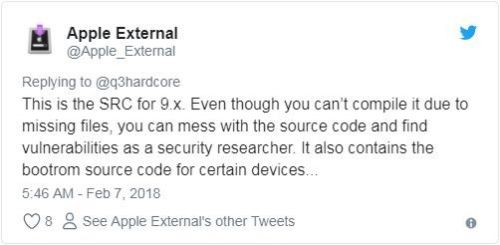 苹果很惶恐 iOS源代码泄漏!1