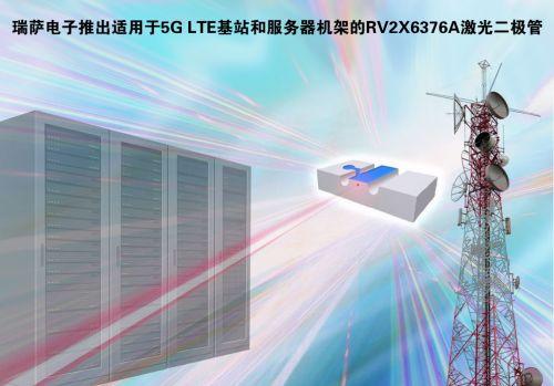 瑞萨电子推出业内首款25 Gbps直调激光二极管RV2X6376A系列,支持4.9G和5G LTE基站0