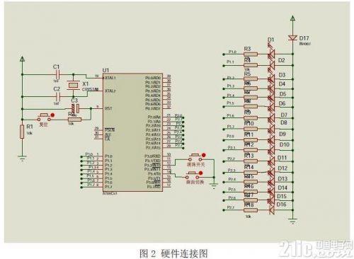 使用AT89C51单片机对发光二极管阵列进行控制1