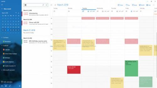 Windows 10 RS5 17634发布:日历加入搜索功能0