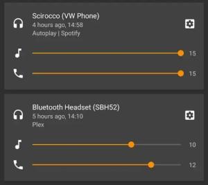 Android P优化蓝牙耳机 自动记忆多设备音量2