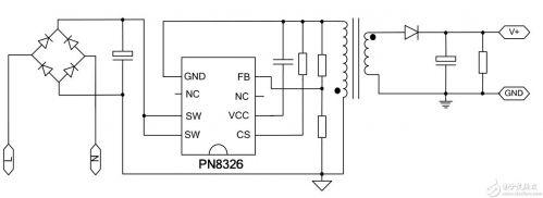 LED恒流驱动芯片开关电源管理芯片PN8326介绍及封装和应用电路1