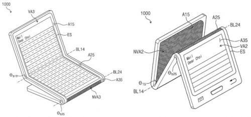 手机秒变iPad 三星可折叠智能机更多专利曝光1
