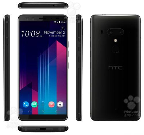 无刘海好评!HTC U12+官方渲染图/规格表大曝光:下周发1