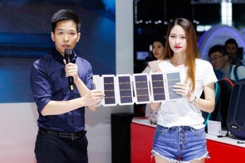 汉能携新品亮相2018 CESA:可随身充电的汉纸/汉包1