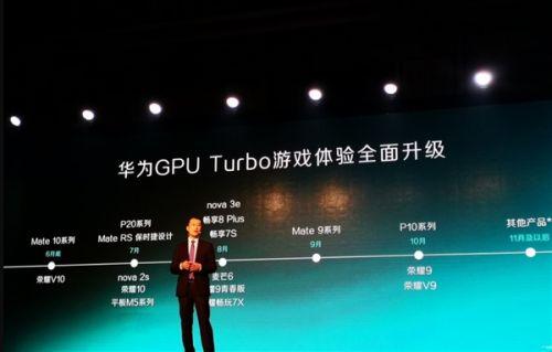 华为宣布GPU Turbo升级时间表!一大波老机型性能大增1