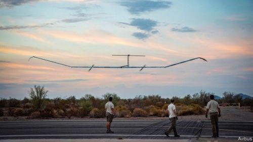 空客打破无人机滞空纪录 在空中持续飞了近26天0