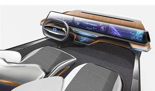 阿里发布智能驾驶舱  大屏横贯中控不含任何按键1