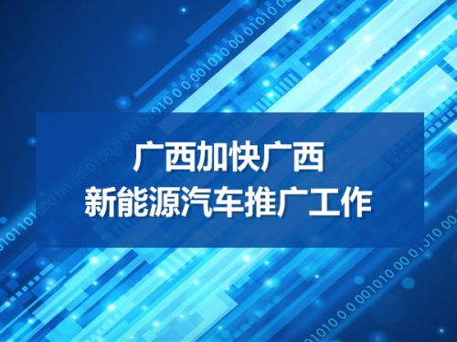 广西加快广西新能源汽车推广工作