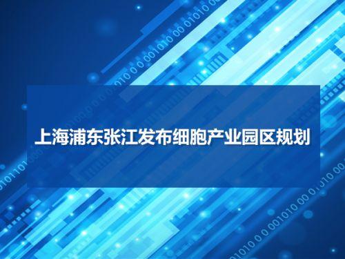 上海浦东张江发布细胞产业园区规划0