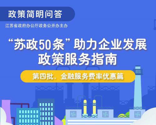 """苏政50条""""助力企业发展政策服务指南(第五批,商贸流通进出口便利化篇)"""