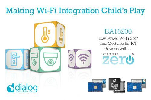 Dialog半导体推出最新超低功耗Wi-Fi SoC,扩展IoT连接产品组合0