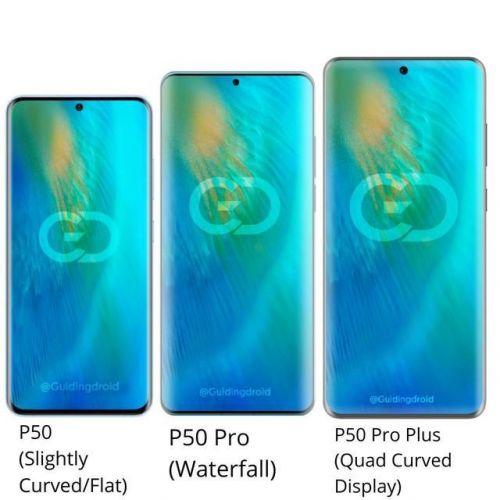 华为P50系列曝光,3种屏幕3种芯片0