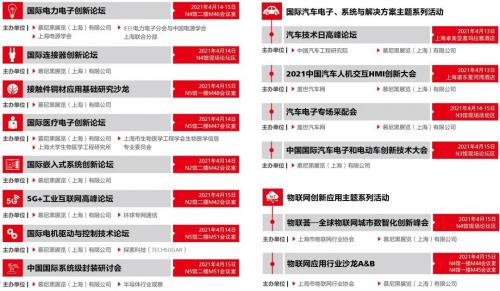2021慕尼黑上海电子展览会同期论坛大公开!,赶快制定你的参会行程表吧!0